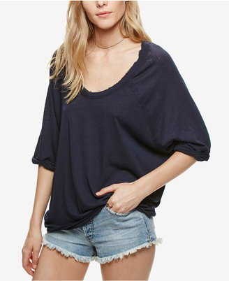 Free People Moonlight Scoop-Neck T-Shirt $58 thestylecure.com