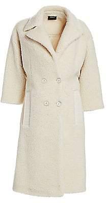 Akris Women's Faux Shearling Double Breasted Coat