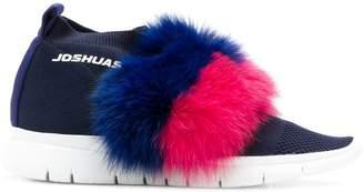 Joshua Sanders slip-on fur trim sneakers