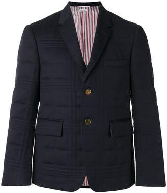 Thom Browne flap pockets quilted blazer