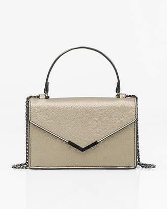 Le Château Metallic Leather-Like Crossbody Bag