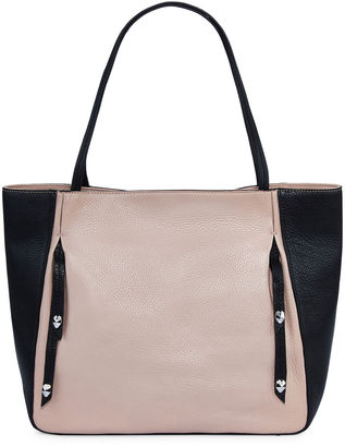 PERLINA Perlina Cruise Colorblock Leather Tote Bag $199 thestylecure.com