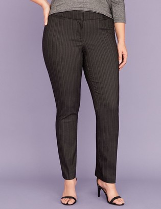 Lane Bryant Allie Sexy Stretch Straight Leg Pant - Black Pinstripe