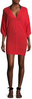 Herve Leger Marian Cotton Cover-Up - Orange, Size xs-s