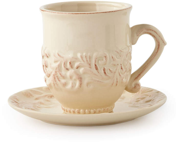 G G Collection Four Cups & Saucers