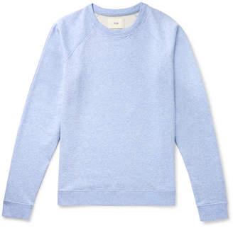 Folk Rivet Melange Loopback Cotton-Jersey Sweatshirt - Men - Light blue