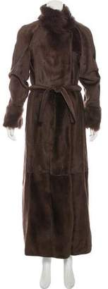 Fendi Long Shearling Coat