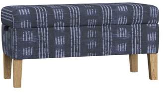 Pottery Barn Teen Ellie Storage Bench, Shibhori Indigo