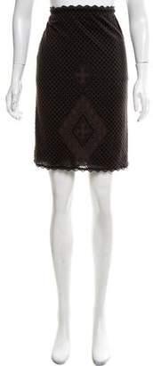 Zac Posen Patterned Knit Skirt