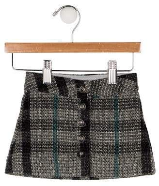Burberry Girls' Nova Check Tweed Skirt