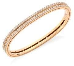 Roberto Coin Portofino 18K Rose Gold& Diamond Bangle