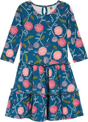 Tea Collection Print Tiered Dress