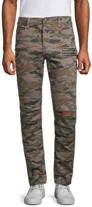 True Religion Drift Moto Camo-Print Pants