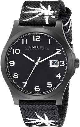 Marc by Marc Jacobs Men's MBM5088 Analog Display Analog Quartz Black Watch