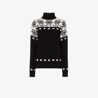 43d1c72bfb Loewe Snowflake Turtleneck Wool Sweater