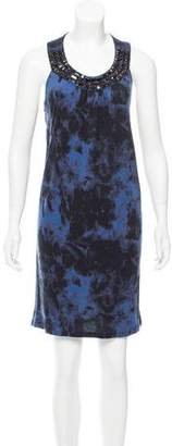 MICHAEL Michael Kors Embellished Tie-Dye Dress