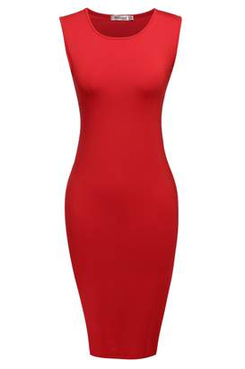 Meaneor Women's Classic Slim Fit Sleeveless Bodycon Pencil Pull-over Party Dress XXL