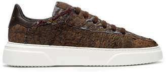 By Walid 19th Century Panelled Low Top Trainers - Mens - Beige