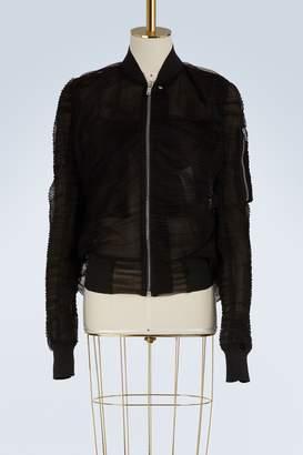 Rick Owens Organza bomber jacket