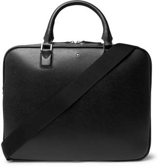 Montblanc Sartorial Cross-Grain Leather Briefcase - Men - Black