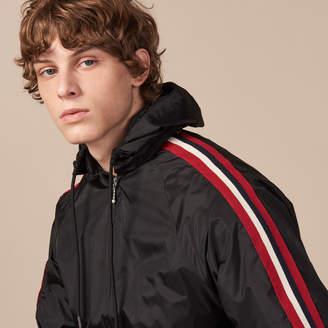 Sandro Zip-up varsity jacket with hood