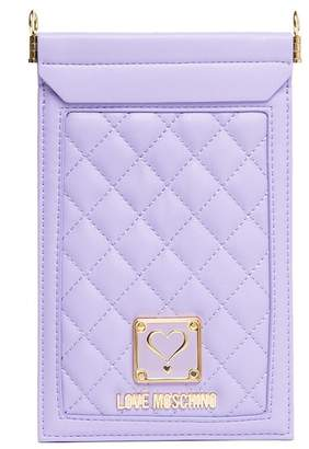 Love Moschino Quilted Cellphone Case