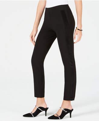 Alfani Velvet-Stripe Skinny Pants