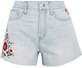 Madewell The Perfect 刺绣牛仔短裤