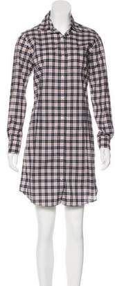 Tomas Maier Belted Plaid Dress