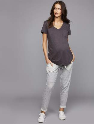 A Pea in the Pod Under Belly French Terry Ankle Length Maternity Jogger Pant