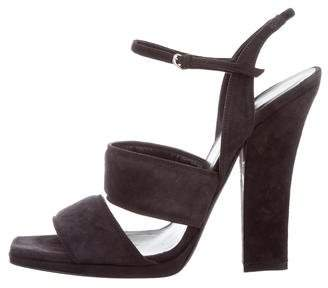 Narciso Rodriguez Suede Ankle-Strap Sandals