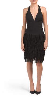 Made In Usa Stella Fringe Skirt Dress
