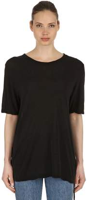 Ksubi Jackson Rayon & Silk Jersey T-Shirt