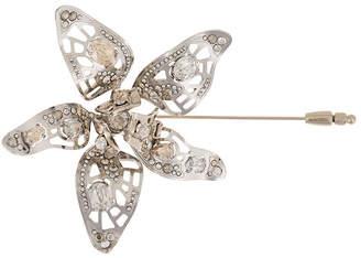 Lanvin crystal-embellished flower brooch
