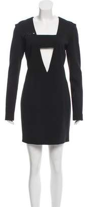 Anthony Vaccarello Mini Crepe Dress