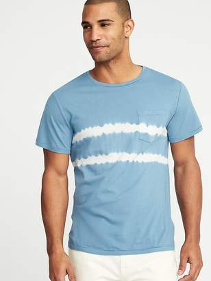 Old Navy Garment-Dyed Crew-Neck Pocket Tee for Men