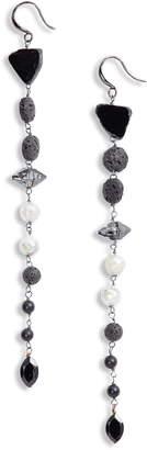Cynthia Desser Long Black Tourmaline Linear Earrings
