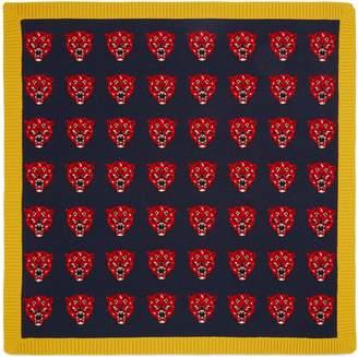 Gucci Tiger jacquard wool knit baby blanket