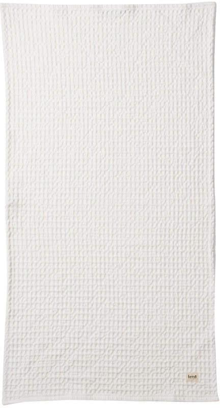 ferm living - Organic Handtuch, 100 x 50 cm, Weiß
