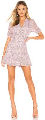 J.o.a. Buttoned Down Polka Dot Dress
