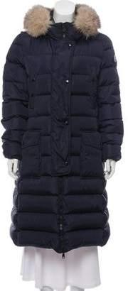 Moncler Khloe Fur-Trimmed Down Coat