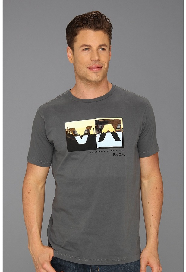 RVCA Horizon Box Tee (Pavement) - Apparel