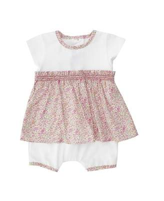 Absorba Liberty Print Dress Style Romper Suit