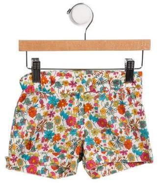 Oscar de la Renta Girls' Floral Mini Shorts