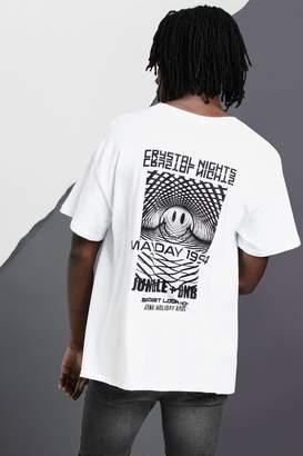 boohoo Club Night Back Print Oversized T-Shirt