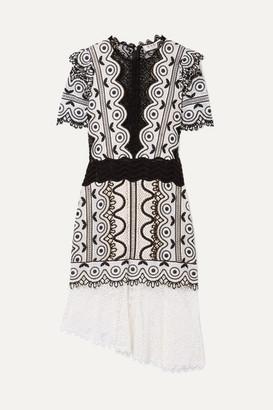 Sea Lola Asymmetric Cotton-blend Guipure Lace Dress - Cream