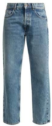 Maison Margiela - Washed Straight Leg Jeans - Womens - Light Blue