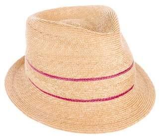 Jennifer Ouellette Straw Fedora Hat