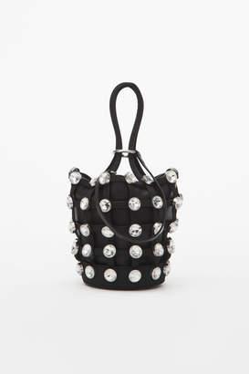 Alexander Wang Alexanderwang roxy crystal cage mini bucket bag
