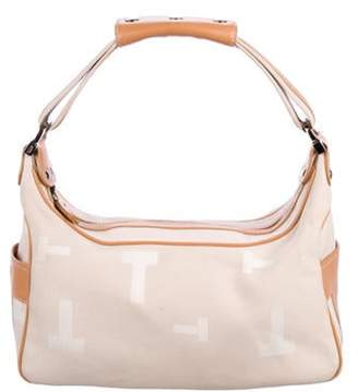 Tod's Leather-Trimmed Jacquard Hobo Beige Leather-Trimmed Jacquard Hobo